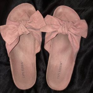 cute pink bow slides